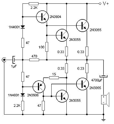 audio amp schematic with 90 Watt Audio Power  Lifier Circuit Based Transistor on Index18 besides Audio  lifier Using Lm386 Help furthermore 40 Watt Power  lifier Circuit With also Lm3403 Voltage Controlled Oscillator Circuit And Datasheet moreover Bmw K1200lt Fuses And How To Replace It.