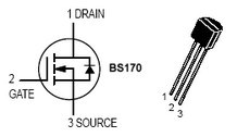 BS170 pin