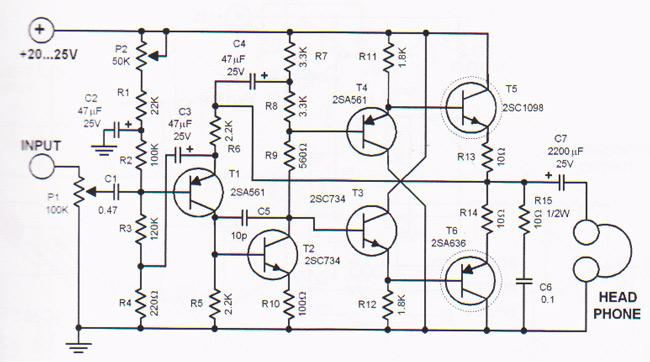 Tremendous Headphone Amplifier Circuit Design Based Transistors Circuitszone Com Wiring Cloud Oideiuggs Outletorg