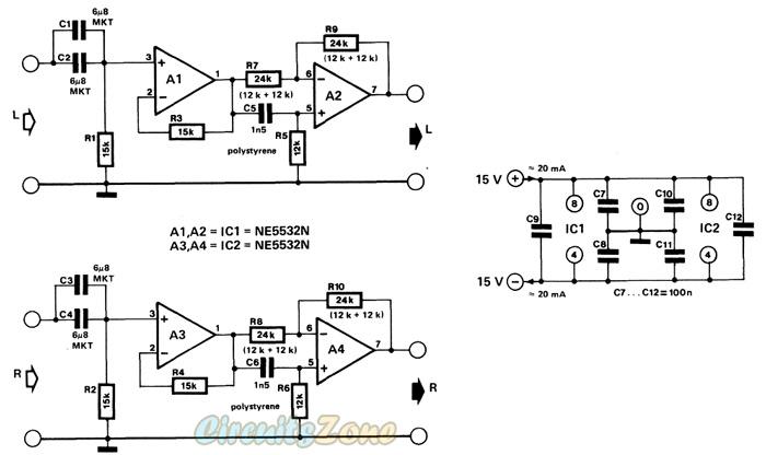 transfer audio equalizer circuit  u00bb circuitszone com
