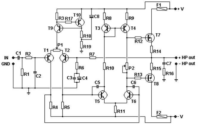 100w basic mosfet amplifier circuit  u00bb circuits zone