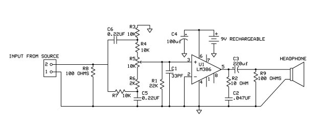 bass booster headphone amp circuit