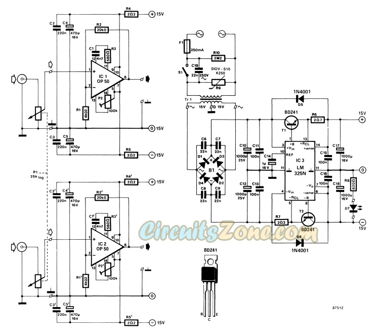 Pleasant Headphone Amplifier Circuit Based Ic Op 50 Circuitszone Com Wiring Digital Resources Anistprontobusorg