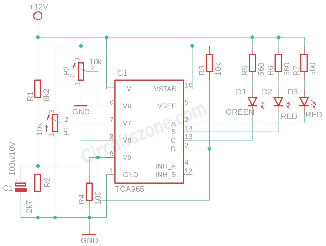 car battery monitor circuit