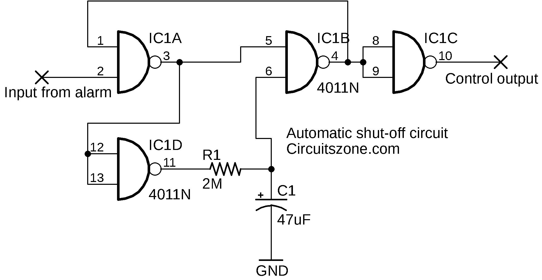 automatic shut-off circuit